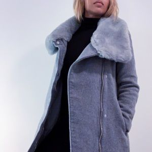 Club Monaco Wool Evangah Coat - Grey